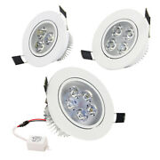 Dimmable 9w 12w 15w Led Recessed Ceiling Downlight Spot Light Lamp Fixture Round