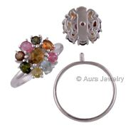 Tourmaline Gemstone Solid 925 Sterling Silver Bohemian Ring Jewelry R1751-2