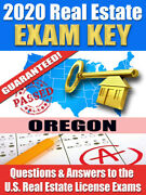 2020 Oregon Broker Real Estate Exam Prep Study Guide Questions And Ans. [cd-rom]