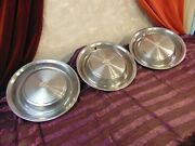 3 1973 Cadillac Hubcaps Fleetwood Coupe And Sedan Deville Three Wheel Covers