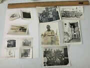 Grouping Of 12 Wwii Photos Bomb Group Aircrew Aircraft Base Camp Uniform Usaaf