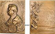 Ad093, France, Russia, Greece And Bulgaria, Ww1 Plaque Medal 1916, Marshal Joffre