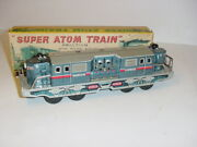 Vintage 1950's Tin Friction Super Atom Train By Cragston W/box Excellent