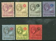 Antigua-1921-9 A Very Fine Used Multi Crown Set To Andpound1 Sg 55-61