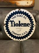 Rare 15 Single Sided Tiolene Aviation Sign...pure Oil.. This Price Is 300 Off