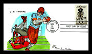 2089 20c Stamp 1984 Jim Thorpe Olympic Athlete James Paslay Hand Painted Fdc