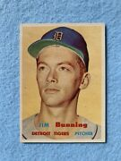 1957 Topps 338 Jim Bunning Rc Rookie Hof Exquisite Nm-mt+ To Mint
