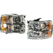 Headlight Lamp Left-and-right For Chevy Gm2503280c Gm2502280c Lh And Rh Chevrolet