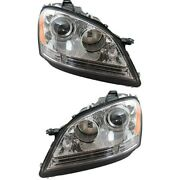 Mb2503146 Mb2502146 Headlight Lamp Left-and-right For Mercedes Ml Class Lh And Rh