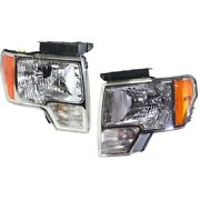 Headlight For 2009-2014 Ford F-150 Driver And Passenger Side Pair Capa