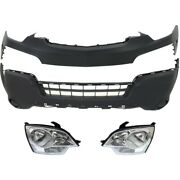 Bumper Cover Kit For 2008-2010 Saturn Vue Front Upper And Lower