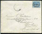 Seychelles/mauritius-1879-80 8c Blue. A Used On Envelope With B54 Cancel Sg Z48