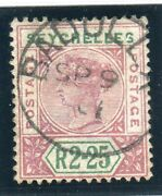 Seychelles-2r 25 Forgery. A Very Fine Used Example Altered From A Ceylon Stamp