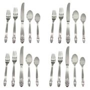 Towle Stockholm 18/10 Stainless Steel 20pc. Flatware Set Service For Four