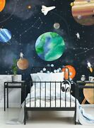 Space Mural Wall Art Wallpaper 6 Sheet Pack - 2ft X 9ft - Peel And Stick
