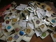 Huge Lot Jewelry Vintage Now Junk Craft Box Full Pounds Brooch Necklace Earrings