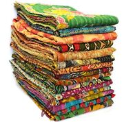 Indian Vintage Kantha Quilts Blankets Wholesale Lot Twin Size Kantha Handmade