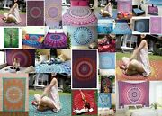 10 Pc Wholesale Lot Indian Tapestry Mandala Wall Hanging Cotton Bedspread Decor