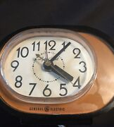 Vintage Ge General Electric Lighted Dial Alarm Clock Face, Hands Tested Working