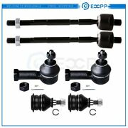 6set Fits 95-99 Mitsubishi Eclipse Front Inner Outer Tie Rods Upper Ball Joints