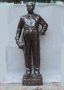 Famous Chinese Chinese Bronze Stand Leader Chairman Mao Ze Dong Sculpture Statue
