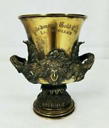 Whitney 1920and039s Sterling Horse Racing Trophy Piedmont Gold Cup Llangollen Virgina