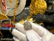 Bolivia 1 Real 1693 Dated 14kt Bezel Pendant Pirate Treasure Jewelry Necklace