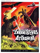 73846 Destroy All Monsters Movie 1968 Fantasy Cult Decor Wall Print Poster