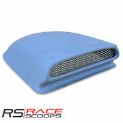 17and039and039l X 3.5and039and039h Fiberglass Hood Scoop Bolt-on With Mesh Grill