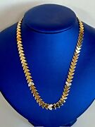 14k Gold And Diamond Necklace Ladies Women Teen 16and039and039 Inch