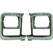Set Of 2 Headlight Doors/bezels Chrome Left-and-right For Chevy Suburban Pair