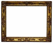 French 1860 Louis Xv Style Gold Leaf Picture Frame 33x43 Sku 450