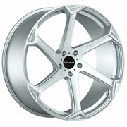 20 Giovanna Dalar-x Silver 20x10 Concave Wheels Rims Fits Ford Mustang Gt