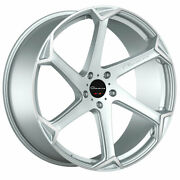 22 Giovanna Dalar-x Silver 22x9 22x10.5 Concave Wheels Rims Fits Dodge Charger
