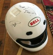 Bell Helmet | Hand Signed By 3x F1 Racing Champion Nelson Piquet + Other Drivers