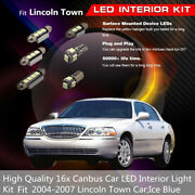 16x Canbus Interior Light Ice Blue Led Bulbs Fit Cars 2004-2007 Lincoln Town Car