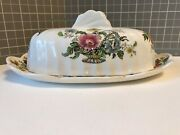 Vintage Royal Staffordshire Clarice Cliff Charlotte Covered Butter Dish