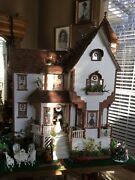 Custom Wood Crafted Doll House With All Furnishing Assesories