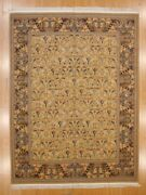 Hand Made Rug, Arts And Crafts Design, High And Low Pile Height, Sz 8.11 X 11.11