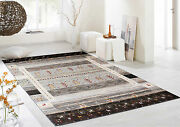 5and0396x7and03910 Neutral Nomad Gabbeh Parsian Style Hand Knotted Rugs And Carpet
