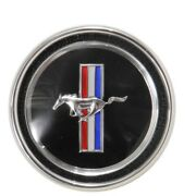 1967 1968 Mustang Running Horse Tri-bar Deluxe Dash Emblem Complete 67-16784