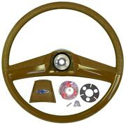 1969 1970 1971 1972 Chevy Truck 15 In Smaller Classic Saddle Steering Wheel Kit
