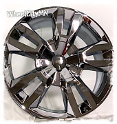 22 Inch Chrome 2019 2020 Chevy Tahoe Rst Oe Replica Wheels Fits Escalade 6x5.5