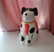 Vtg Pat Meyers Dog Pretend To Be A Christmas Tree W Pepper Ornaments Cookie Jar