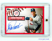 2019 Topps 582 Montgomery Club Brooklyn Collection Auto Jorge Posada Red 3/5 Ssp