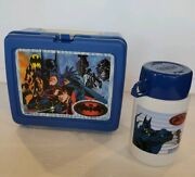 Vintage 1997 Dc Comics Batman And Robin Plastic Lunchbox And Thermos