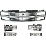 Headlight Kit For 1994-1999 Chevrolet C1500 Front Fits Composite Headlights