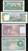 World Lot Of 4 - Uncirculated Banknotes