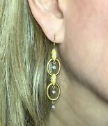 18k Yellow Gold Antique Reproduction 1/2 Cttw Diamond Earrings