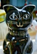 Vintage Black Cat W/ White Face Holiday Designs Usa Cookie Jar Size 12.6 X 6.5